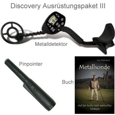Discovery 3300 Premiumpaket (Metalldetektor & Xpointer Pinpointer & Schatzsucherhandbuch)