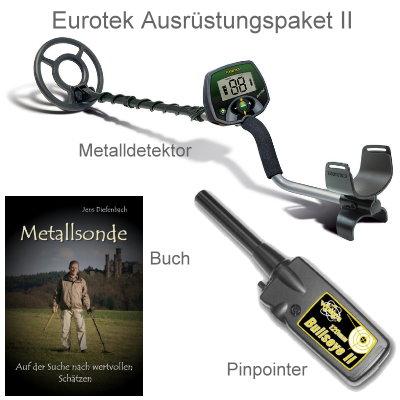 Metalldetektor Ausrüstungspaket Teknetics Eurotek mit Bullseye II Pinpointer